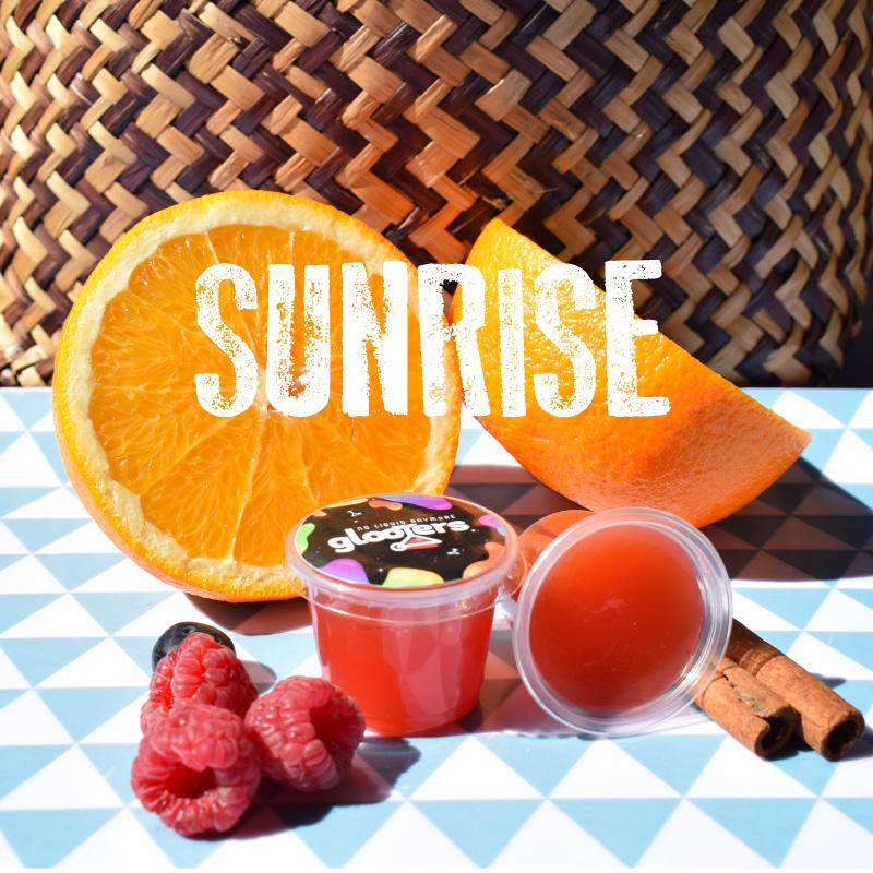 glooters cocktail à manger original sunrise